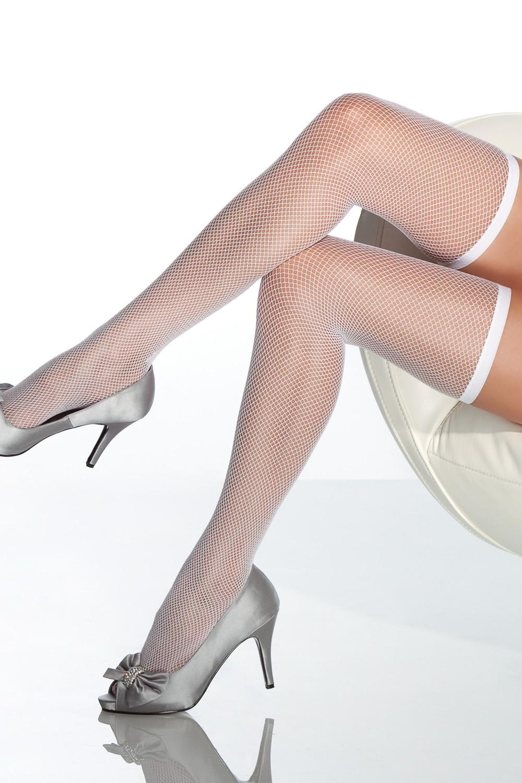 Bijele mrežaste čarape