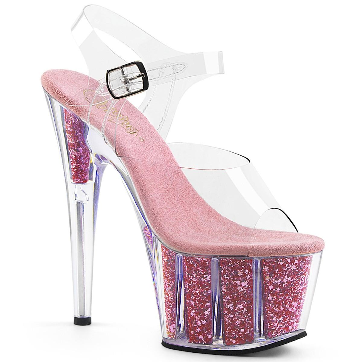 Adore 708G  Clr / B.Pink Glitter Inserts